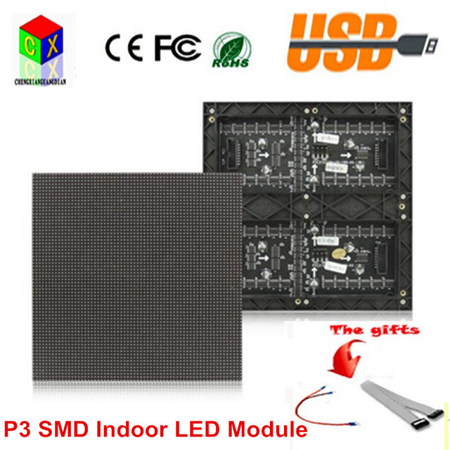 SMD Indoor P3 full color led module 192*192mm 3in1 LED unit board for P3 LED display screen