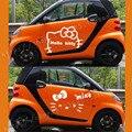 DIY Envío Libre de La Manera Del Coche stickerCar pegatinas todo el coche pegatinas guirnalda de dibujos animados Hello Kitty cats pegatinas 2 piezas