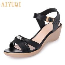 AIYUQI Summer sandals for women 2019 new wedge women, classic simple elegant charming office ladies Roman