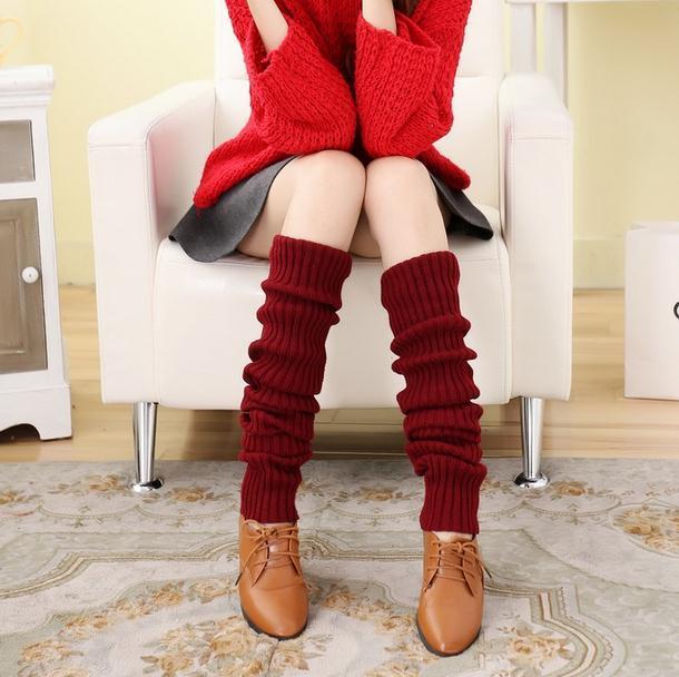 Invierno calentador de la pierna legging grueso stocking