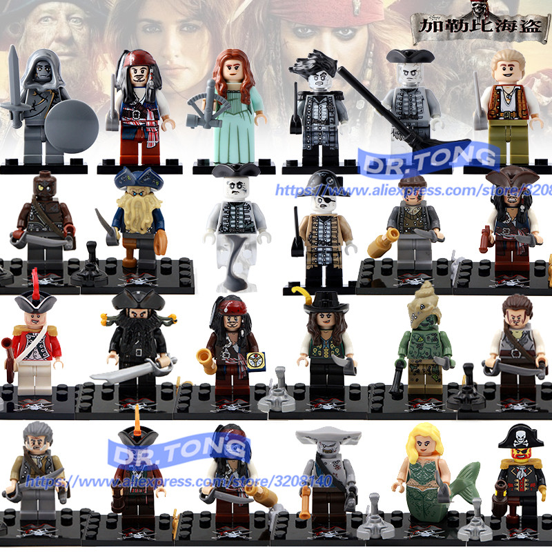 DR.TONG 24PCS/LOT Series Pirates of the Caribbean Figures Doll David Jones Jack Children ...
