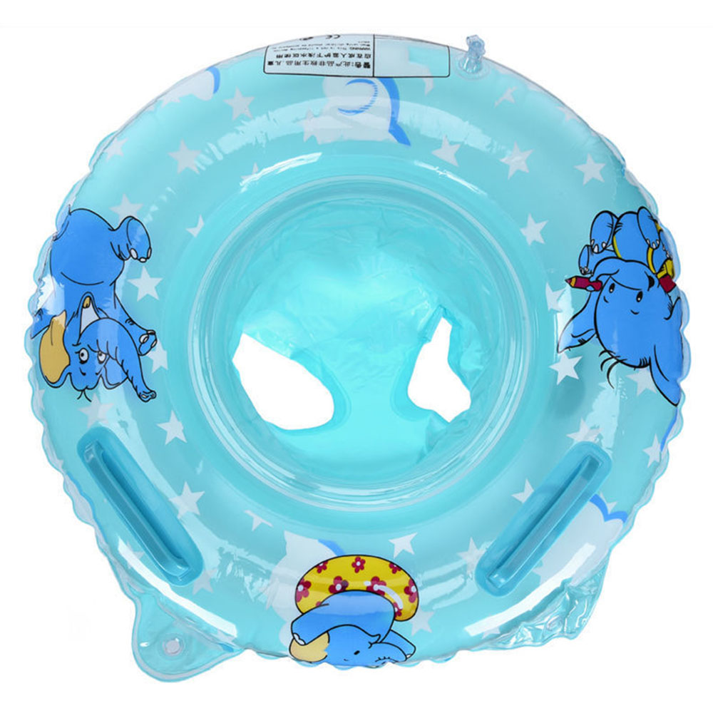 Kid Swimming Circle Seat Ring Baby Float Sunshade Cover Floating Toy Child Beach Pool Accessories Elephant Shape Good Balance