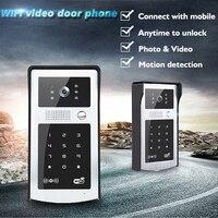 WIFI Video Intercom Outdoor Videoportero IP Cartas Uno Impermeables Interphone Maison Video Door Bell RFID Code Keypad Doorphone