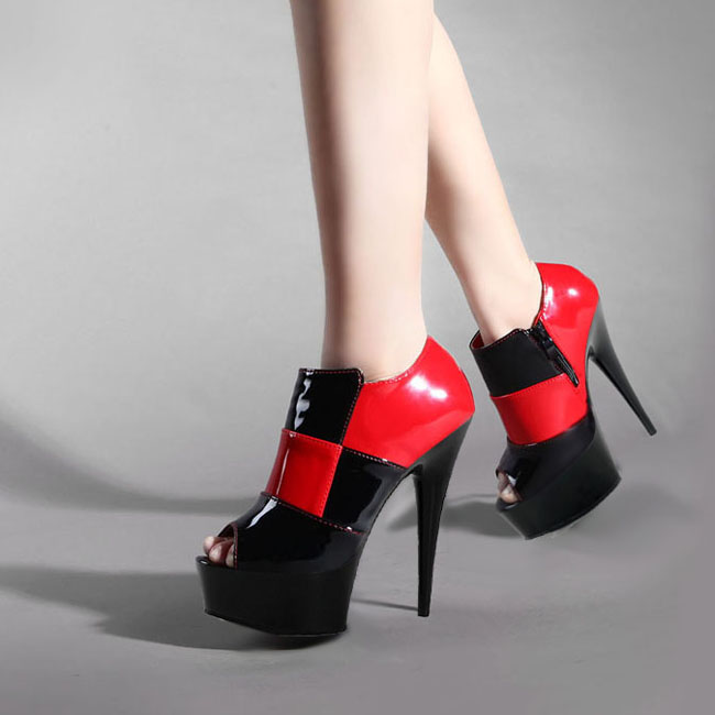 Nachtclub Ultra Schuh weiß Dance Feine Heels Performance Schuhe Mit Rot Passenden Farbe High Cm Streifen Einzelnen Pole Sexy 15 wqUIzqd