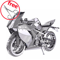 ICONX 2016 Piececool 3D Metal Puzzle Toy P046S P057S Motorcycle Building Kits DIY 3D Puzzle Cut