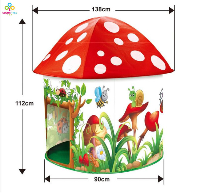 Kids Play Tent Play Game Mushroom Indoor Outdoor Toy Agaric Tent Children Baby Beach Tent  sc 1 st  AliExpress.com & Kids Play Tent Play Game Mushroom Indoor Outdoor Toy Agaric Tent ...