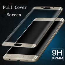 3D Curved Surface Full Screen Cover Explosion-proof Tempered Glass Film for Samsung Galaxy S6 Edge/ Edge Plus