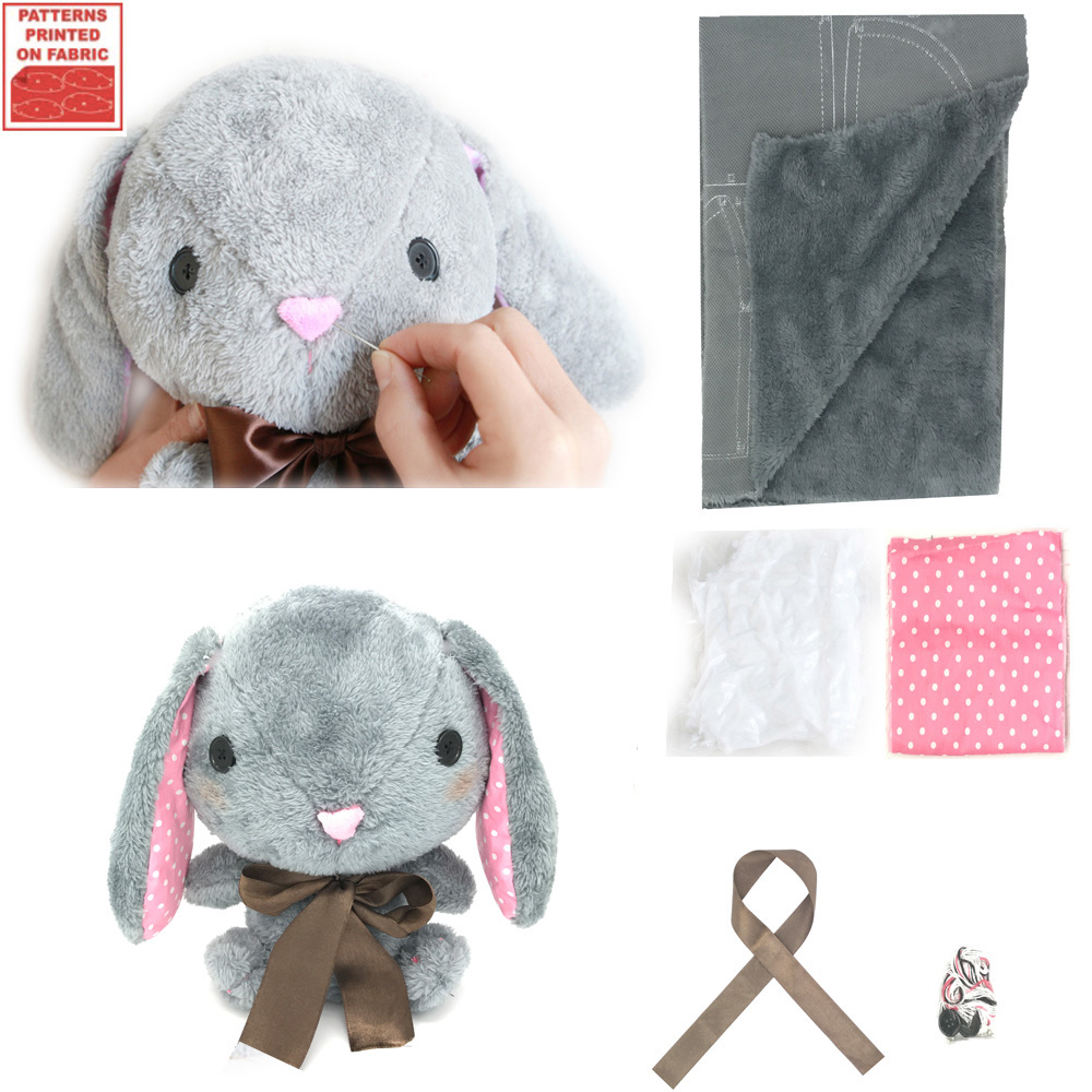 Make Your Own Soft Toy Amuse Pote USA Loppy Bunny Sewing Kit DIY Plush Rabbit Present For Kids Simple Pattern/Tutorial Included yesfeier wholesale new toy 45cm cute soft rabbit plush toy adorable fat rabbit amuse plush doll kids girl best birthday gift