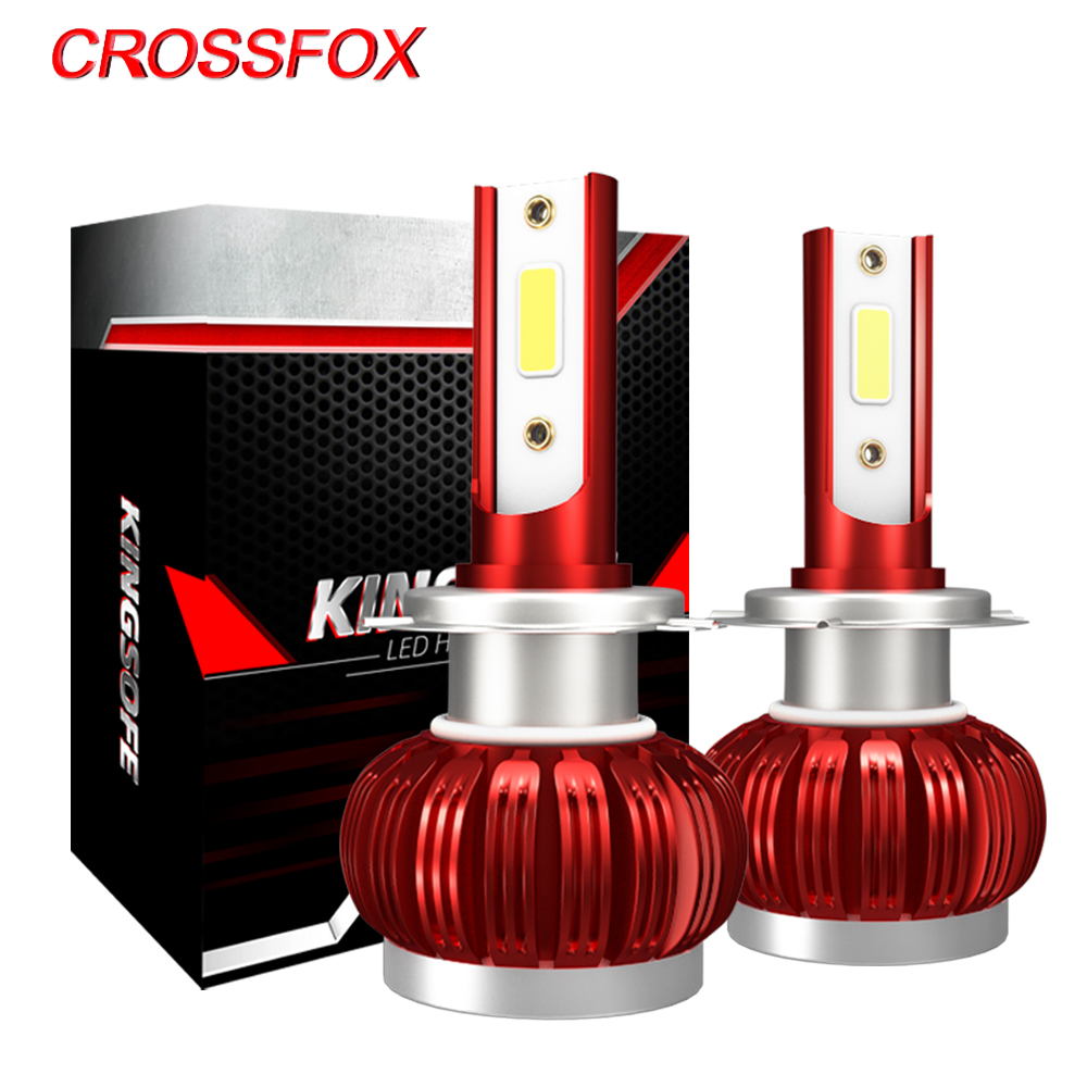 CROSSFOX Car Light LED H4 H1 H8 H9 H11 Auto Lamps 9005 HB3 9006 HB4 H7 LED 12V 6000K White 8000LM Headlight Bulbs Bulbs
