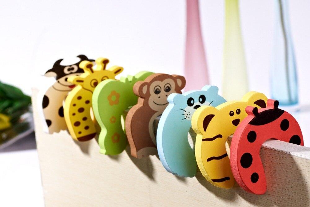 10pcs/lot Child Kids Baby Animal Cartoon Door Jammers Stop Stopper Holder Lock Safety Guard Finger BTRQ0073