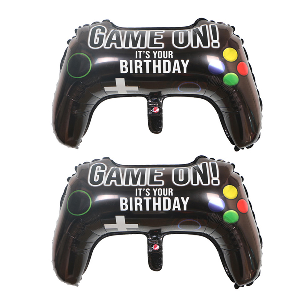 Video game controller handle shape aluminum foil balloon Children's party birthday venue personality party decoration image