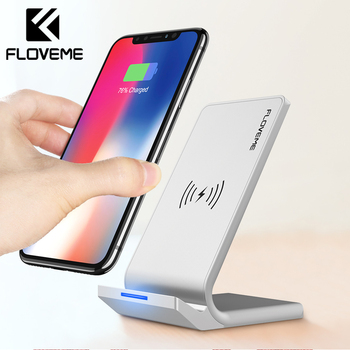 Glass Panel 10W Desktop Wireless Charger for Smartphones