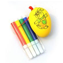 Water Color Pen Egg Kids DIY Painting Color Egg Toy Easter Egg Education Toys safe non