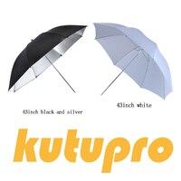 """Tüketici Elektroniği'ten Yumuşak şemsiye'de Kutupro 43 """"108 cm Beyaz Yumuşak Difüzör Stüdyo Fotoğrafçılığı Saydam Şemsiye Stüdyo Flaş Strobe Aydınlatma"""