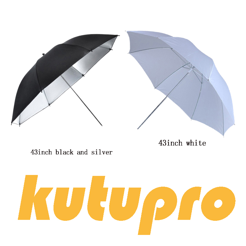 "Kutupro 43"" 108cm White Soft Diffuser Studio Photography Translucent Umbrella For Studio Flash Strobe Lighting"