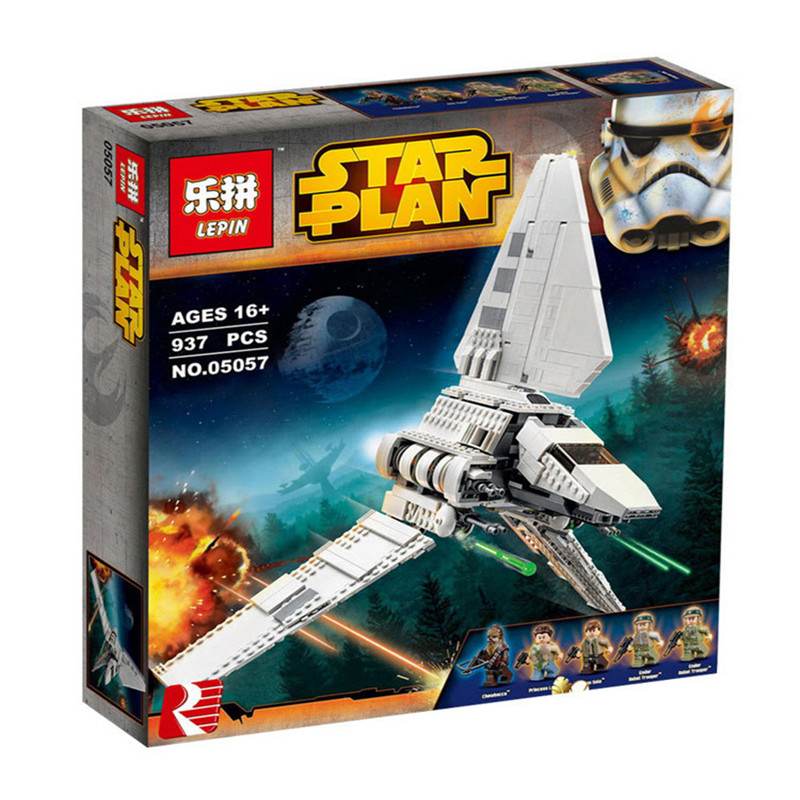 ФОТО Lepin 05057 937Pcs New Star War Series The Imperial Shuttle Set Model Building Kit Blocks Bricks Toy Compatible Gift With 75094