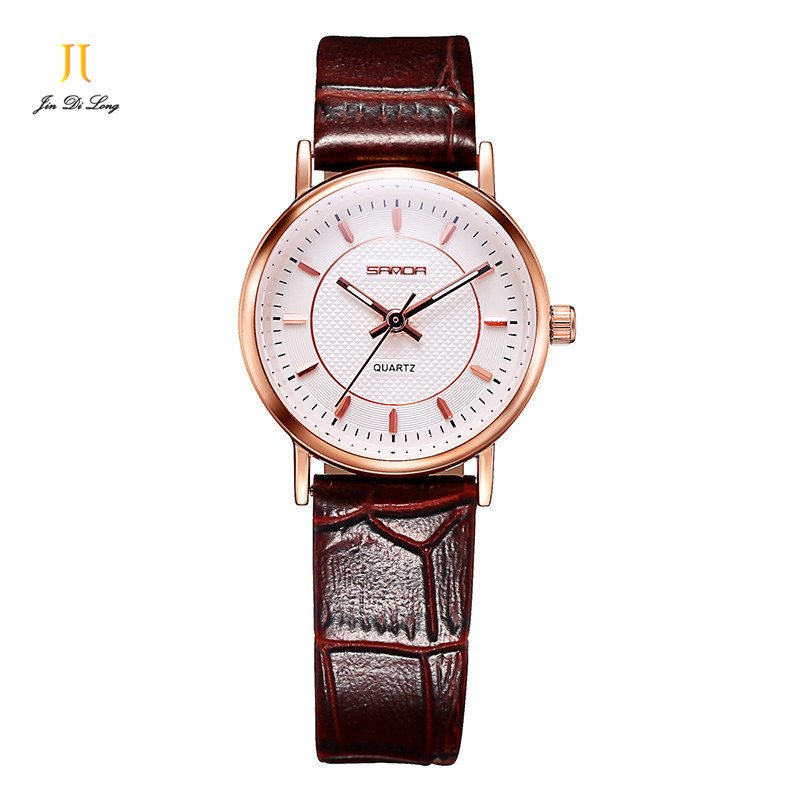 ?Brand Classic Fashion Ultra-Thin Casual Watch Women's Quarts Watches Ladies Clock Leather Strap Elegant Wristwatch Waterproof цена