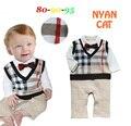 2016 queda menino cavalheiro gravata romper arco de manga longa infantil do bebê inverno macacão macacões criança bebe macacão traje do bebê