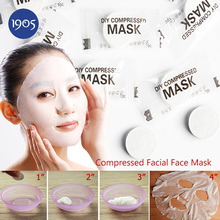 Free Shipping 1pcs Compressed Facial Face Mask Women Beauty DIY Disposable Mask Paper non-woven Natural Skin Care Wrapped Masks