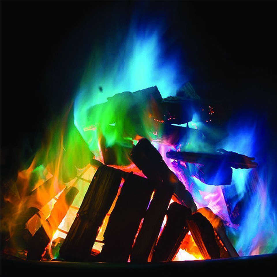 2019 Fashion Colorful Flames Mystical Pire for party  Little magic tricks for campfire party outdoor colorful fire