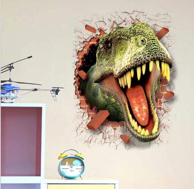 home decoration modular images wall stickers dinosaur 3d stickers