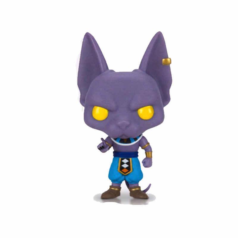 Funko pop Figura de Ação Anime Dragon Ball & Beerus Modelo Pvc Boneca Coleção Toys Para Presentes de Natal