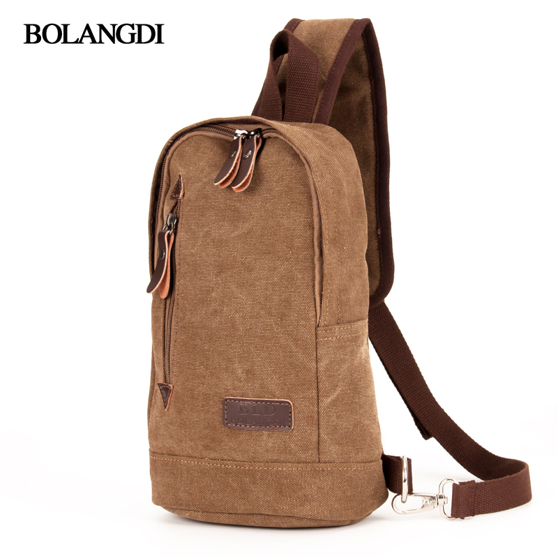 BLD Brand 2017 Casual Chest Bag for Men Female Small Canvas Messenger Flap Fashion Travel Crossbody bags Man Shoulder Bag yeso small crossbody business nylon bag men outdoor sport travel waterproof messenger bag casual fashion small shoulder bag man