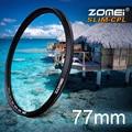 Zomei 77 mm Ultra Slim filtro CPL CIR-PL polarizador Circular polarizador de filtro para Olympus Sony Nikon Canon Pentax Hoya Lens 77 mm