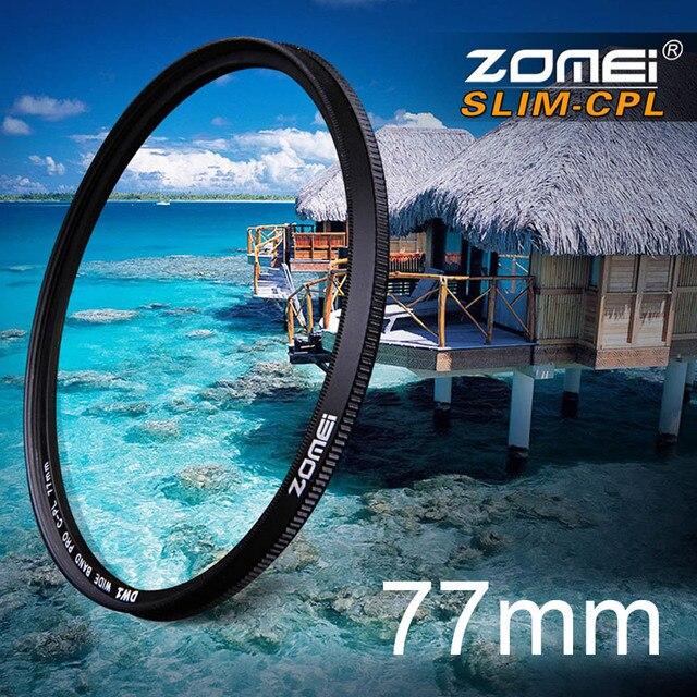 Zomei 77mm Ultra Slim CPL Filter CIR-PL Circular Polarizing Polarizer Filter for Olympus Sony Nikon Canon Pentax Hoya Lens 77 mm