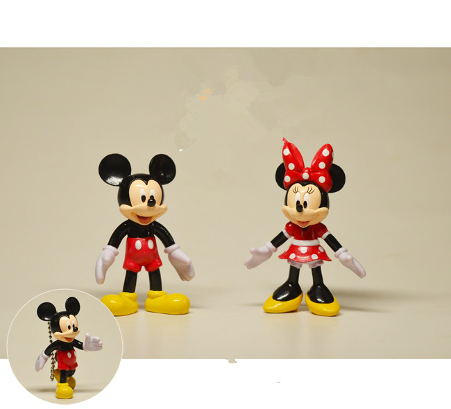 24pcs 7cm couple of classical cmickey mouse minnie mouse action figures mickey mouse anime figure pendant toys