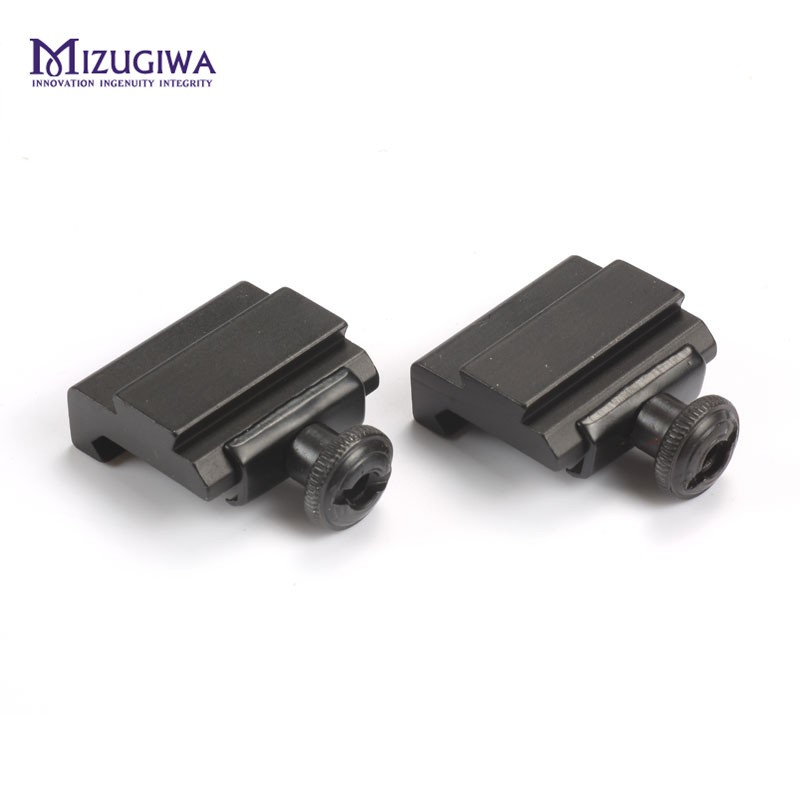 2pcs/pair 20mm To 11mm Scope Mount Adapter Rail Base Weaver Picatinny Dovetail Rail Long 30MM For Hunting Rifle Scope Sight Caza