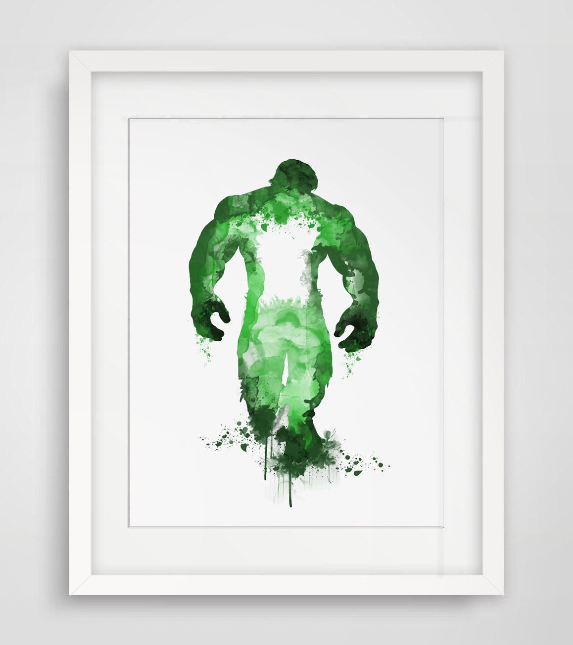 Hulk Watercolor Print Paper Fine Art Paper Hulk Poster Painting Hulk ...