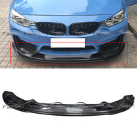 R Стиль углеродного волокна передняя губа спойлер для BMW F80 F82 M3 M4 стайлинга автомобилей тела Наборы