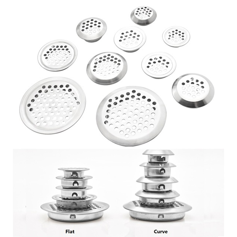 100Pcs/Lot Round Stainless Steel Air Vent Ventilator Grille For Closet Shoe Cabinet