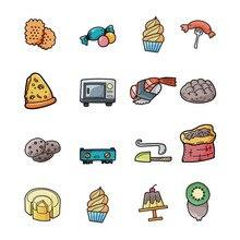 5pcs Acrylic Badge Kawaii Fruit Kitchen Series Backpack Clothing Hat Decoration Icon Customized