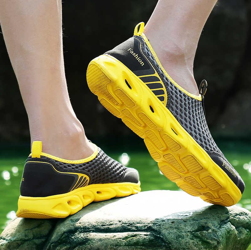 Uomini casual Scarpe Da Ginnastica di Moda Luce Traspirante Sandali di Estate All'aperto Vacanza Al Mare Della Maglia Scarpe Zapatos De Hombre Uomini Scarpe