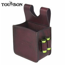 Tourbon Hunting Gun Ammo Shells Bag Rifle Cartridges Carrier with 12Gauge Shotgun Holders Case Leather Pouch for Shooting