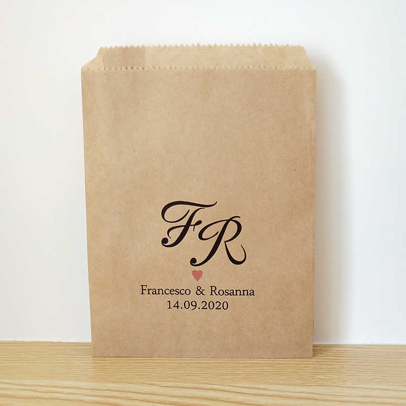 Candy Buffet Printed Paper Bags Wedding Favor Bags Cookie Bags Set of 25 Bridal Shower Favors
