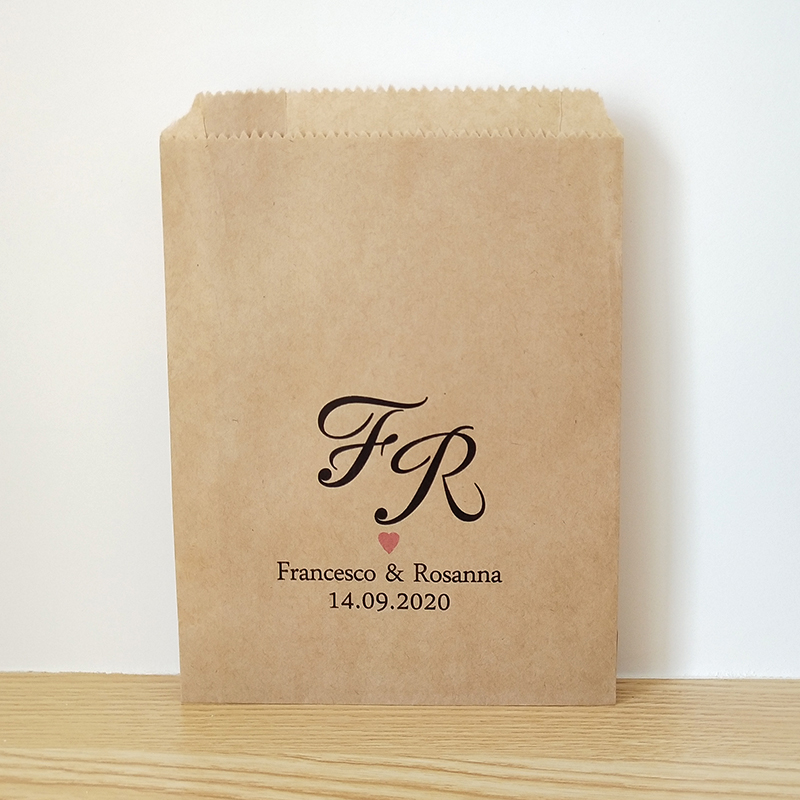 Us 4 99 Custom Name And Date Wedding Favor Bags Rustic Engagement Party Candy Buffet Printed Paper Cookie Treat Bag In Gift