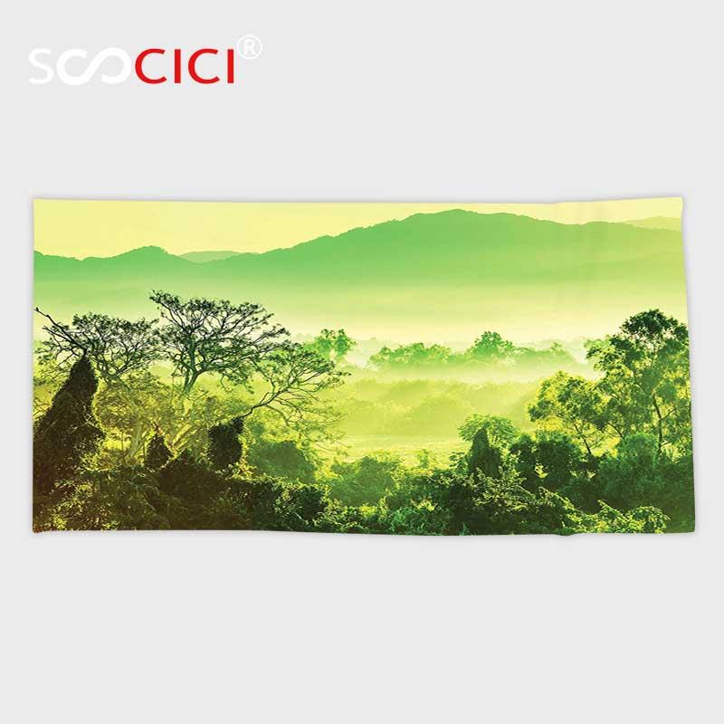 Custom Microfiber Ultra Soft Bath Hand Towel Jungle Mexico Tropical Jungle Exotic Nature Sunlight Theme Rainforest Digital Towel Th Hand Towelmicrofiber Towel Soft Aliexpress