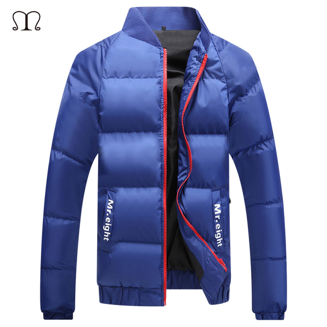 2016 Men's Winter Jacket Down Parkas Cotton Stand Collar Winter Warm Coat Men Slim Fit Thick Wadded Jackets Waterproof Coats Men
