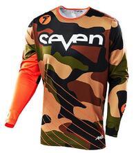 Wholesale MOTO seven team downhill mountain bike t-shirts breathable men maillot Wisdom leaves Motocross Seven Do