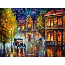 Frameless Abstract Retro Car Painting Diy Digital By Numbers Modern Wall Art Picture For Home Artwork