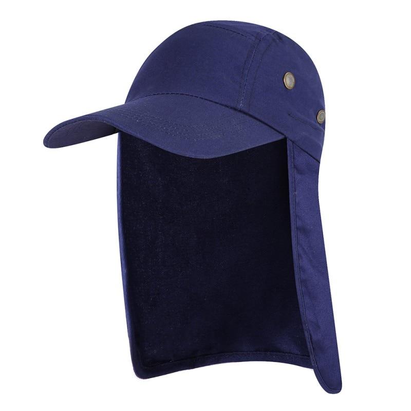 1 PC Fishing Cap with Ear Neck Flap Cover Adjustable Waterproof Sunshade Folding Mesh Sports Hat Outdoor Sportswear Pro
