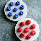 1PCS 3D Fruit 8 Holes Mini Blueberry Mulberry Silicone Cake Mold Chocolate Decoration Food Grade silicone Soap Mold DIY Kitchen