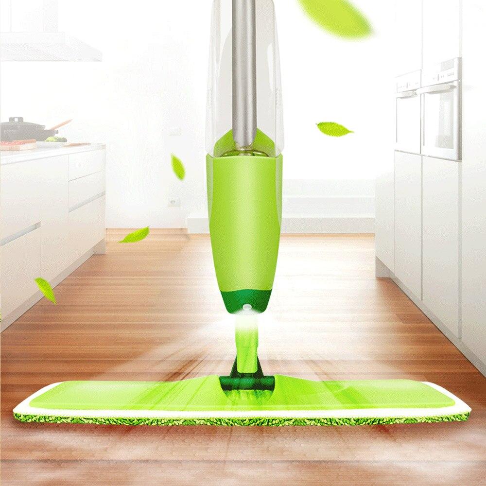 Magic Spray Mop Microfiber Cloth Floor Windows Clean Mop: 350ML Spray Mop Floor Cleaning Tool Microfiber Cloth Hand