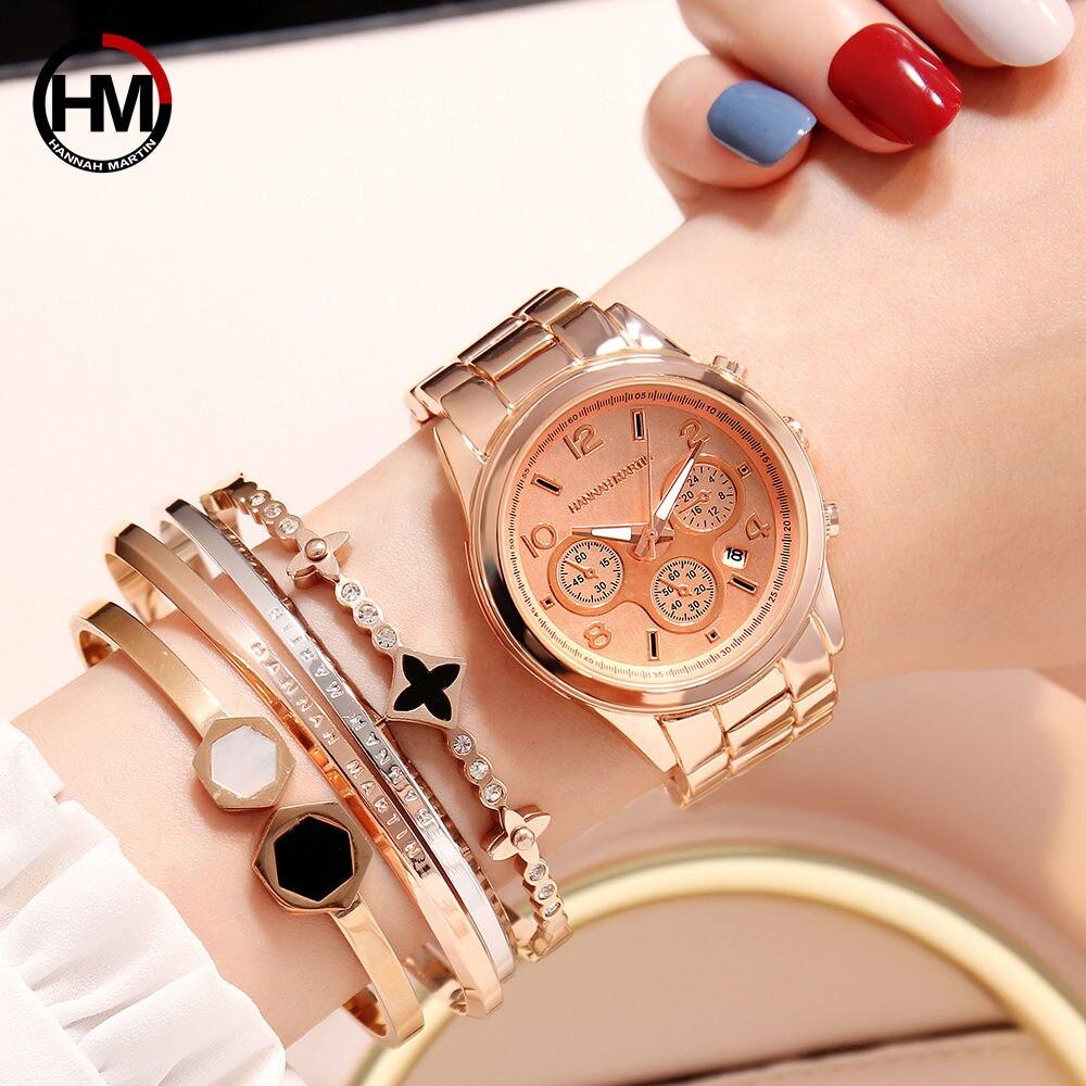 Quartz Watches Women New Top Brand Luxury Steel Dressmontre Femme Hand Watch Relogio Feminino Calendar Waterproof Wristwatch