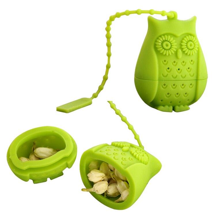 Set of 4 Silicone Owl Tea Bag Creative Silicone Tea Infuser Filter for Mug Tea Pot Empty Tea Bags for Loose Tea Kitchen Accessories (3)
