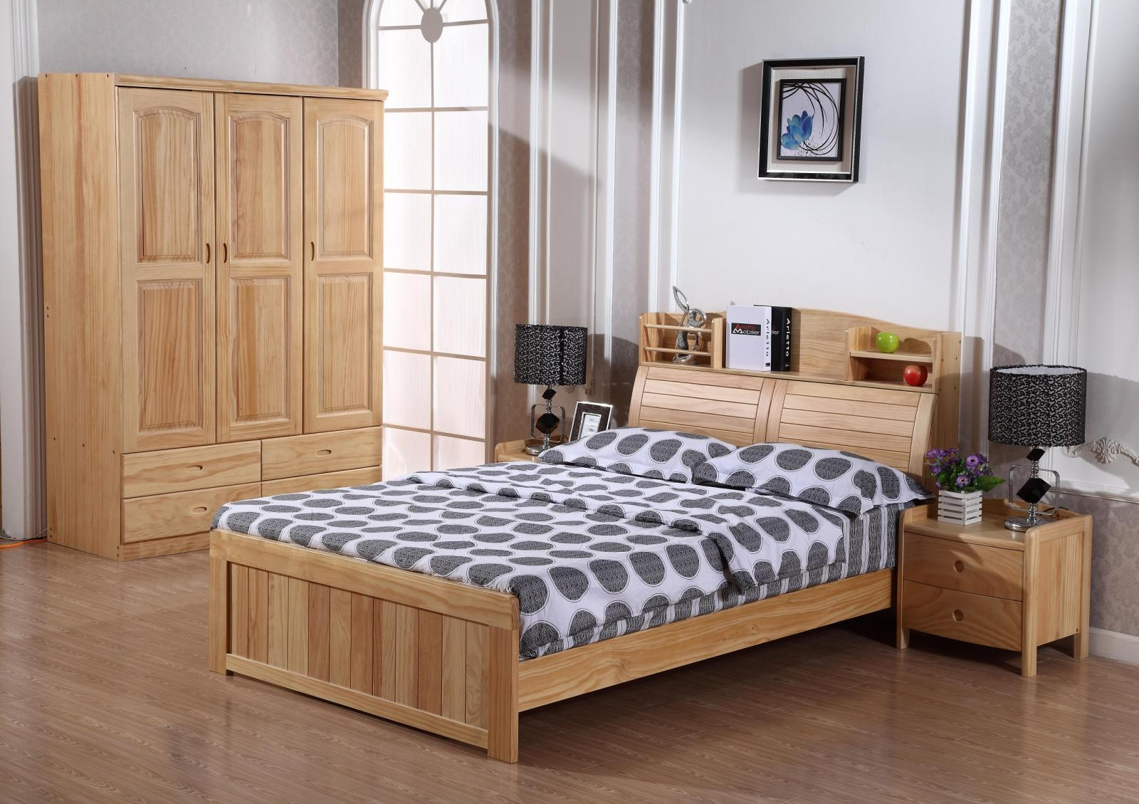 Counter new zealand pine bookcase solid wood bedroom furniture child bed can be pumped with high pressure tank