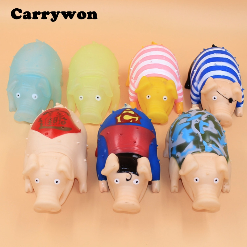 Carrywon Novelty Pet Toy Screaming Vent Pig Toys Squeaker Dog Chew Plaything Decrease Stress Prank Toys Pets supplies
